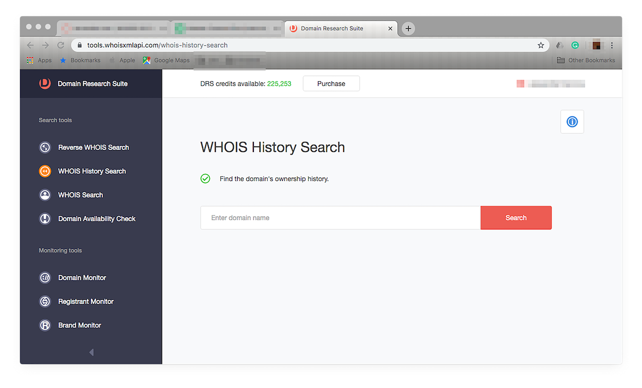 Run a WHOIS History Search on the domain name to dig deeper.