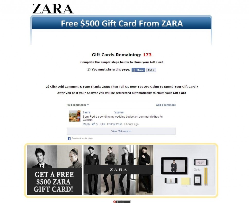 This case isn't the first time Zara's or other popular retailers' brand was used for a phishing attack