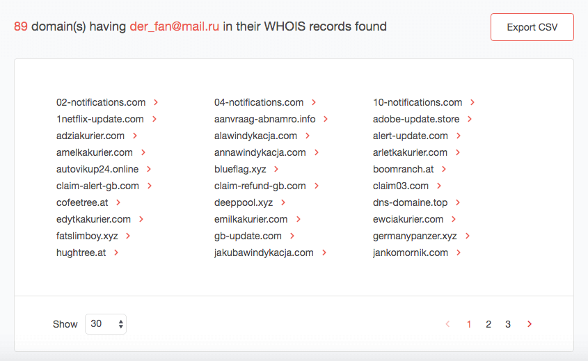 Reverse WHOIS API | Whois XML API