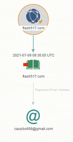 We then extracted the registrant email address by running the transform To Registrant Email [WhoisXML].