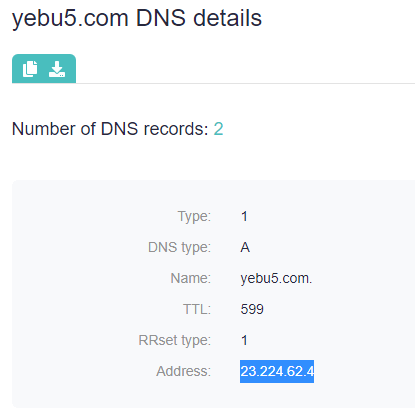 At this point, we used DNS Lookup to identify the IP addresses of one of the CoolWebSearch domains